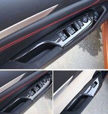 4 x ABS Carbon Fiber Door Window Lift Cover For Honda Civic 2016 2017