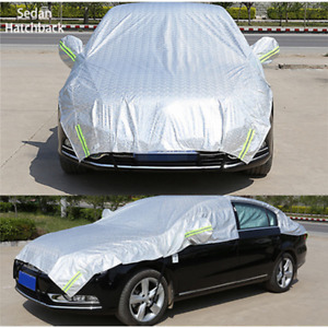 Sedan Car Cover Outdoor Sun Dust Scratch Proof WaterProof Universal Half Cover
