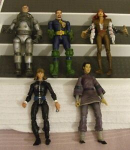 """VARIOUS (RARE) FIGURES ** FIVE ASSORTED LARGE ACTION FIGURES ** 6.5"""" TALL - USED"""