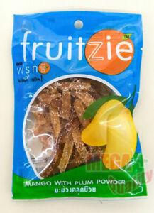 Thai Fruit Fruitzie Mango with Plum Powder Thai Dried Fruit Snack 1.76 oz. 50g.