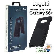 Samsung Galaxy S8+ Full Grain leather Snap case Londra Black from Bugatti