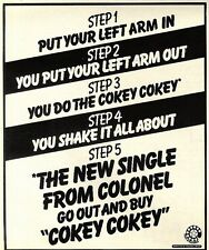 """SL26/12/75p46 Single Advert 7x5"""" Colonel : cokey Cokey"""
