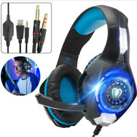 Pro Gaming Headset w/ Mic Stereo Overear Headphone For PS4/Nintendo /Xbox One/PC