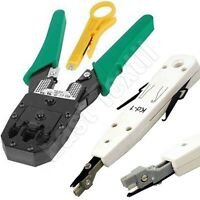 RJ45 Cat5e Cat6 Ethernet Network LAN Cable Tester / Punch Down Impact Tool Set
