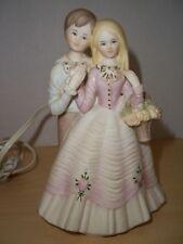 Vintage Hand Painted Lenwile China Ardalt Japan Couple Figurine Lights Up