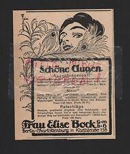 Berlín-Charlottenburg, publicidad 1917, señora Elise Bock GmbH pasta Nero