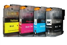4x printer cartridge for BROTHER DCP-J4120 DW, LC223 LC223BK LC223C LC223M LC22