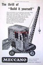 1956 Meccano Construction Sets Advert Mobile Crane - Vintage Print AD