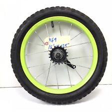 "16"" Bicycle Rear Yellow Wheel w/ Coaster Brake & 2.125"" Tire Kids Bike #k69"