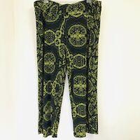 TS Virtuelle Wide Leg Palazzo Pant Plus Size XL Colourful Funky Black/Green