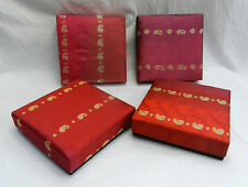 Pretty Satin Fabric Covered  Gift / Jewellery / Padded Box 17cm square - BNWT