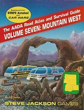 Car Wars Gurps Autoduel AADA Road Atlas & Survival Guide Vol 7 Mountain West *FS