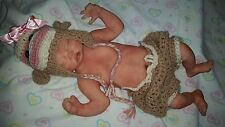 "Beautifully Painted Newborn Full Body Silicone Baby Girl ""Hadley"""
