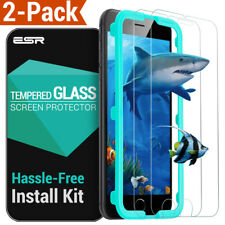 (Pack of 2) ESR iPhone 7 Screen Protector Screen Tempered Glass White
