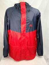Helly Hansen Packable Red And Blue Waterproof Rain Mac Rain Coat Size L Large