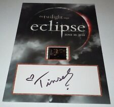 Twilight Eclipse Senitype Official Film Frame SIGNED Tinsel Korey Emily Young
