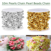 10m/32.80ft Pearls Chain Pearl Beads Chain Flower Garland Party Wedding Decor