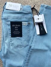 7 For All Mankind Jeans The Skinny Swarovski Limited Edition Size 24 Inch