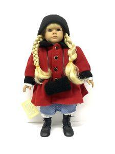 "Heidi Ott ""Beth"" Winter Red Coat Faithful Friends Collector Doll"