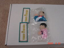 Three Stooges 4' Finger Puppets.1991 Norman Maurer Prod.