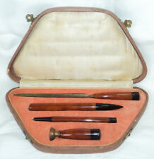 Antique Bakelite Writing Desk Set Ink Dip Pen Pencil Letter Opener Wax Seal Box