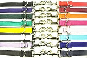 5ft 8ft 11ft Police Style Dog Training Lead Double Ended 20/25mm Cushion Webbing