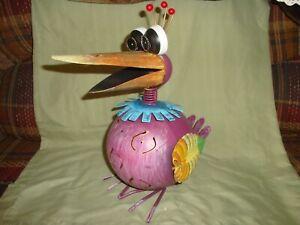 So Cute Metal Peacock Figure-Indoor/Outdoor-Garden Decor-Birds--(S)