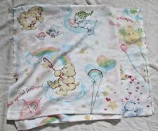 Care Bears TWIN flat sheet children's bedding vintage kites balloons  fabric