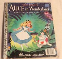 Alice In Wonderland Little Golden Book 1951 Walt Disney
