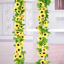 Simulated Sunflower Garland Vine Leaf Wedding Floral Home De VV