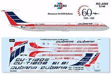 Revaro Decal IL-62M Cubana for Zvezda model kit 1/144