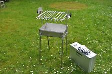 Camping grill Edelstahl gril-Holzkohlegrill-Mangal ,In Ally Koffer ,Koffer Grill