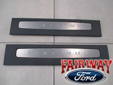 17 thru 19 Super Duty Illuminated PLATINUM Door Sill Plate Set CREW CAB ONLY