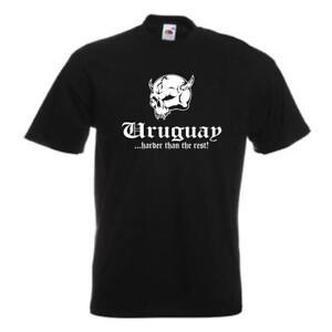 T-Shirt URUGUAY harder than the rest Ländershirt, Übergrößen (WMS05-70a)