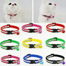 Reflective Breakaway Nylon Adjustable Cat Safety Collar with Bell for Kitten Cat