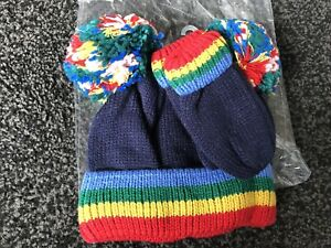 Next Baby Knitted Hat And Gloves Set 3-4Years BNWT