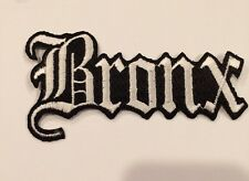 """VINTAGE IRON ON EMBROIDERED BRONX  PATCH. 4""""x 2"""" NICE!"""