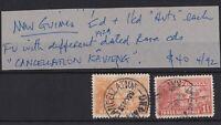 PNG553) New Guinea 1925-27 Huts ½d Orange & 1½d Orange-vermillion SG 125 & 126a