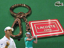"LACOSTE Enamel ""Paris"" KEYRING KEY FOB Bag Charm L24.21 Red"