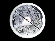 White Tiger In Snow Wall Clock Can be Personalised