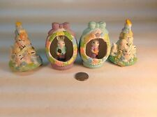 Four (4) Ceramic Musical Easter Decorations.