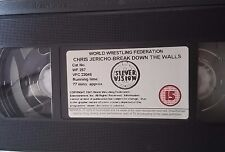 WWF Chris Jericho Break Down the Wall original WWE Wrestling VHS TAPE + HÜLLE