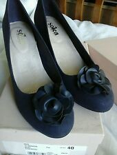 NWB Kurt Geiger Solea Navy Abel Shoes -Size 7