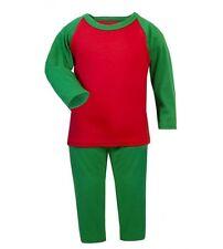 Green & Red Kids Plain 100% Cotton Pyjamas Age 2-3 Y Design Your Own diy Craft