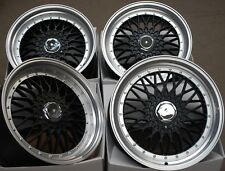 "ALLOY WHEELS X 4 16"" BLACK RS FITS FORD B MAX ESCORT FOCUS PUMA SIERRA KA 4X108"