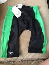 Speedo FASTSKIN FSII Mens jammer black/green size 28 NEW In Box NIB swim team