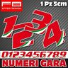 Adesivi Moto NUMERI GARA Italy Cupolino Auto Truck Moto Gp Cross SBK Mx GP Boat