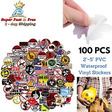 100 Pack Hard Hat Funny Stickers Badass American Patriotic Warning Vinyl Decals