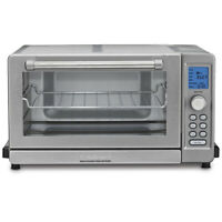 Cuisinart TOB-135 Deluxe Convection Toaster Oven Broiler, Brushed Stainless
