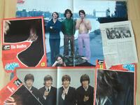 The Beatles - Konvolut Berichte, Poster, Starschnitte 60-70er Jahre